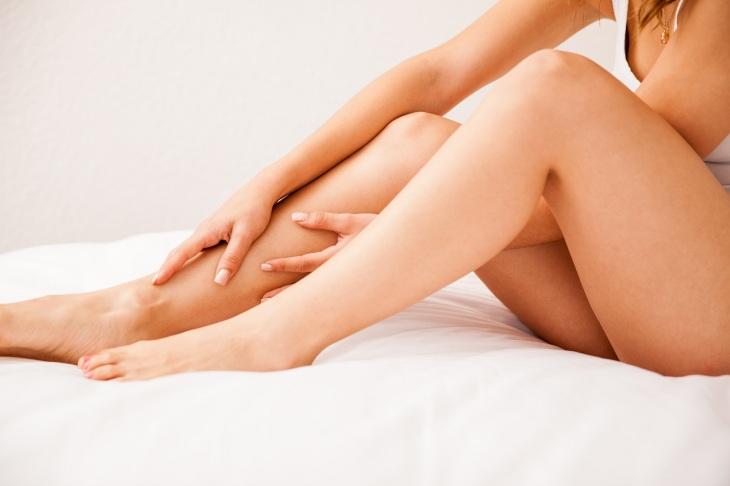 Closeup of smooth hairless legs